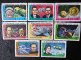 GUINEEA ECUATORIALA-PROGRAMUL SPATIAL SOVIETIC-SERIE COMPLETA-STAMPILATE, Stampilat