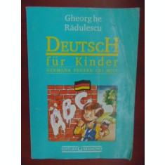 Deutsch fur kinder Germana pentru cei mici
