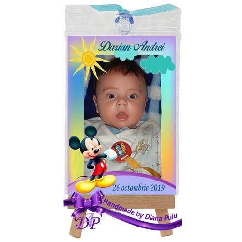 Marturii botez magneti Handmade by Diana Puiu Mickey Mouse MDBM 16