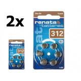 Renata ZA 312 baterii aparate auditive Set 2x Blistere