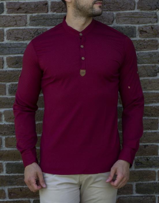 Camasa tunica grena  - camasa tunica camasa barbat camasa slim #199