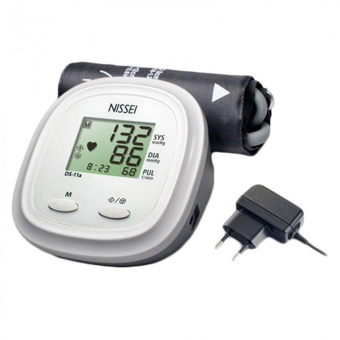 Tensiometru electronic de brat Nissei DS 11A, adaptorr inclus, memorare 60 de seturi