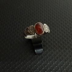 inel vechi de argint cu carneol