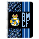 Caiet dictando cu spirala A4 Real Madrid, 60 file