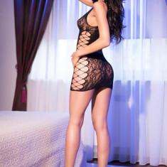 Rochita Sexy Decupata, Model CR 4094, Negru, S/M