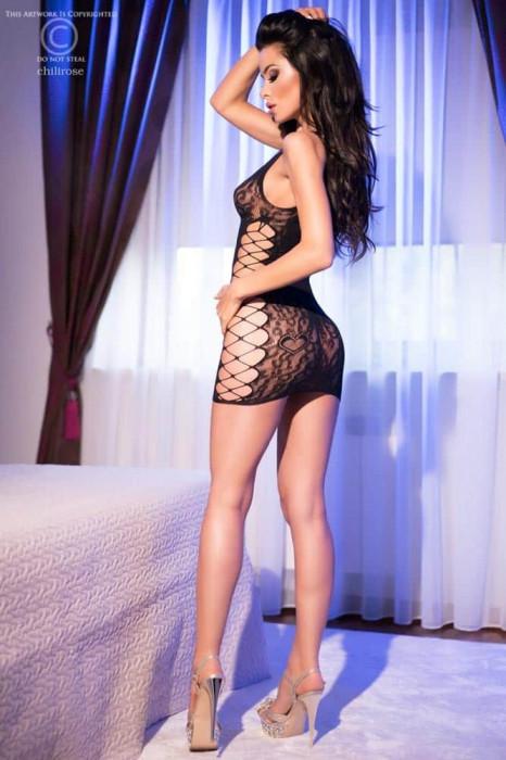 Rochita Sexy Decupata, Negru, S/M