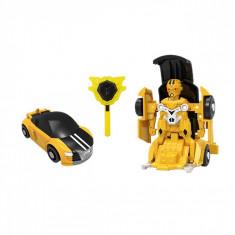 Robot de jucarie, model transformare, galben/negru, 14x13x6 cm