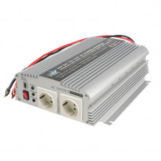 Invertor de tensiune cu incarcator HQ, 24 V, 1000 W, unda sinusoidala modificata