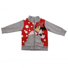 Hanorac Minnie Mouse, Gri/Rosu, pentru fetite