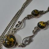 Colier argint cu chihlimbar -x42