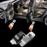 Holograme proiectoare led lumini ghost shadow Audi s5 logo led Sline