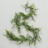Ghirlanda decorativa din frunze artificiale Greenish Phyllanthus Verde, L170 cm