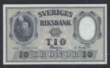 A5166 Sweden Suedia 10 kronor 1958 SEMNATURI DIFERITE UNC aUNC