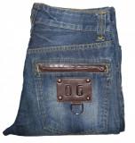 Blugi Barbati Jeans DOLCE & GABBANA (Italy) - MARIME: 32 - (Talie = 84 CM), Albastru, Lungi, Dolce Gabanna