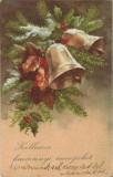România, felicitare 1 Crăciun, carte poştală, circulată intern, 1938