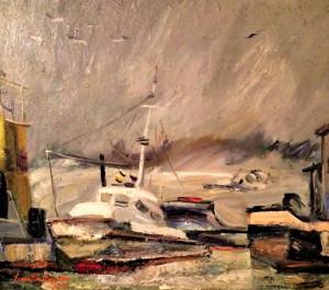Pictura Tablou Dumitru Icodin ,,Yacht in port''