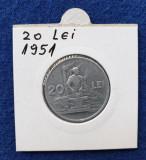 Moneda Republica Populara Romana 20 Lei 1951 -  stare buna