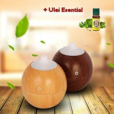 Umidificator Difuzor Aromă 130 ml Cu 7 Culori de + Ulei Esențial
