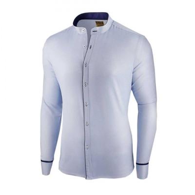 Camasa pentru barbati, bleu, slim fit - Neo Elegance foto