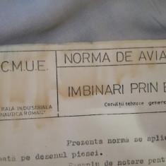 Dosar Norme Aviație, de la IMFCA, exemplarul 7, aprox. 60 pagini, 1974, aviatica
