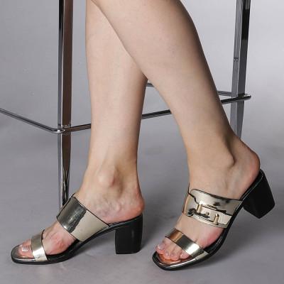Papuci dama Chloe aurii foto