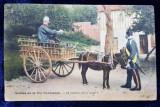 SCENES DE LA VIE NORMANDE - CARTE POSTALA ILUSTRATA , POLICROMA , CIRCULATA , DATATA 1910