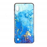 Husa Samsung A10 silicon cu sticla marmura