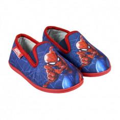 Papuci de casa cu imprimeu Spiderman, Rosu/Albastru