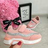 Cumpara ieftin Adidasi roz cu scai si sclipici pt fetite 21 22 23 24 25, Fete