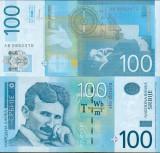 = SERBIA - 100 DINARA – 2013 - UNC    =
