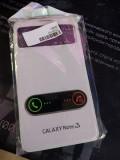 Husa Samsung Galaxy Note 3 Piele Eco cu Capac Spate Flip Carte Alb