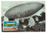 MAXIMA POSTA ROMANA DIRIJABIL SANTOS DUMONT PARIS, Aviatie