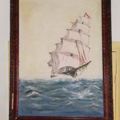 "Tablou ""Corabie pe mare"""