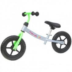 Bicicleta fara pedale transformabila Copii 12 inch - Gri cu Verde