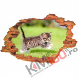 "Sticker ""Wall Crack"" Cat 10 - 120 x 80 cm"