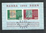TSV* - COLITA 1965 ELVETIA MICHEL 812-813 STAMPILATA, Nestampilat