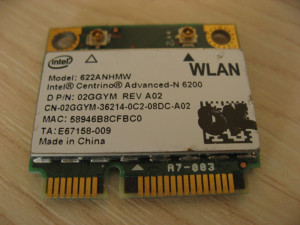 Placa wireless laptop Dell Studio 1558, Intel Advanced-N 6200, 622ANHMW