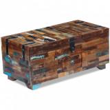 Masă de cafea tip cufăr, lemn solid reciclat, 80 x 40 x 35 cm, vidaXL
