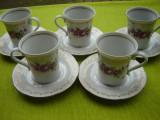 Portelan JLMENAU 1777, frumoase 5 cesti de cafea