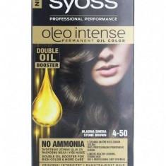 Vopsea de par permanenta fara amoniac Syoss Color Oleo Intense 4-50 Stone Brown