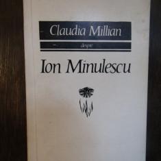 CLAUDIA MILLIAN DESPRE ION MINULESCU
