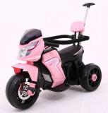 Motocicleta electrica cu pedale si maner parental HL108, roz