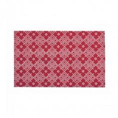 Prosop de bucatarie 45x70cm din bumbac 100% model flori rosii