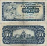 1965 ( 1 VIII ) , 50 dinara ( P-79a ) - Iugoslavia