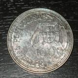 Moneda argint 1.000 escudos Portugalia 1994, necuratata, Europa