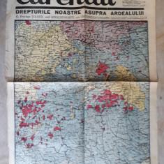 WWII -HARTA -DREPTURILE NOASTRE ASUPRA ARDEALULUI - ZIARUL CURENTUL 17 AUG. 1940