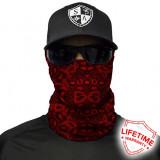 Bandana/Face Shield/Cagula/Esarfa - SA Red Paisley, made in USA, Din imagine
