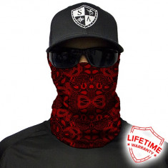 Bandana/Face Shield/Cagula/Esarfa - SA Red Paisley, made in USA