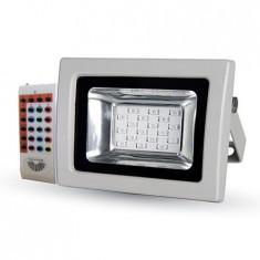 REFLECTOR LED SMD 10W RGB CU SENZOR LUMINA IP65 ALB