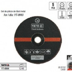 Set discuri de taiat metal 75mm, Yato YT-0994